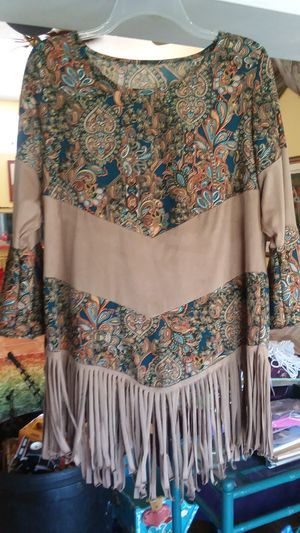 Blouse with fringe for Sale in Casselberry, FL