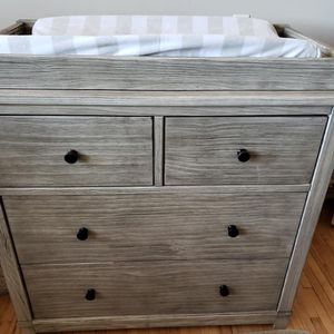 Convertible Crib, Changing Table, Dresser, Matress, And Changing Pad for Sale in Wichita, KS
