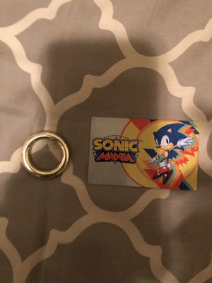 Official Sonic Mania Ring and Metal Card for Sale in New York, NY