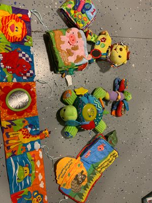 7 baby toys...some can hook or attach to a crib or car seat. Will come freshly washed for Sale in Raeford, NC