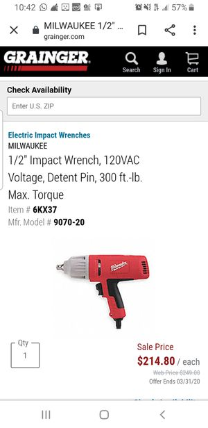 Milwaukee Impact wrench for Sale in Silver Spring, MD