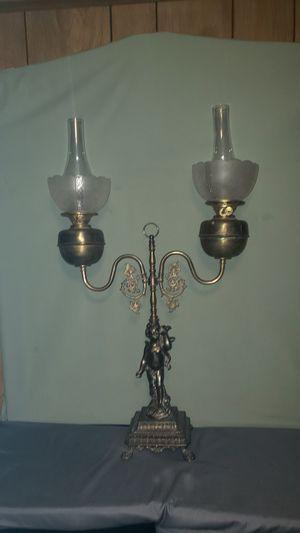 Vintage 1970 John Scott Original Oil Fouble Duplex Burner Cherub Parlor Lamp for Sale in Grand Blanc, MI