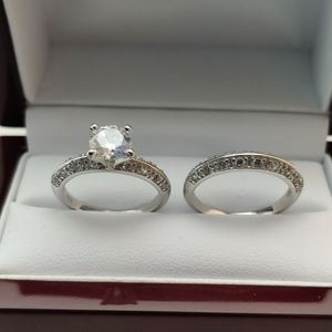 New with tag Solid 925 Sterling Silver ENGAGEMENT WEDDING Ring Set size 6/8 or 9 $150 set OR BEST OFFER ** FREE DELIVERY!!!📦📫 ** for Sale in Phoenix, AZ