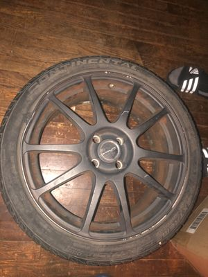 4 lug 17inch rims black for Sale in Capitol Heights, MD