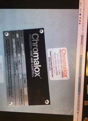 Chromatic ADHT-035F Air Duct Heater for Sale in Detroit, MI