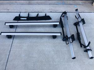 Thule full set of roof rack and 2 bike carriers for Sale in Manassas, VA