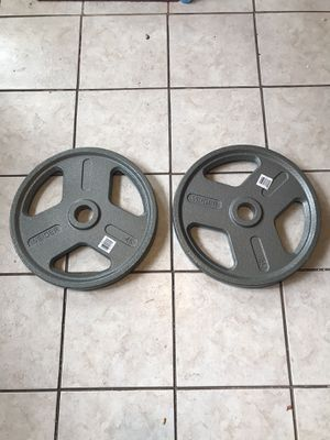 2 X 45 lb Olympic Weights for Sale in Lebanon, PA