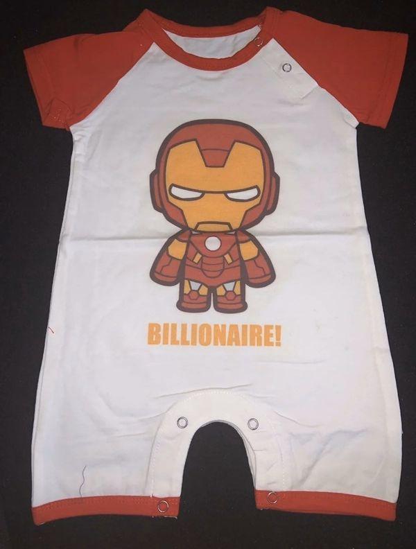 Marvel Funko Style Baby Romper Onesie One Piece Iron Man