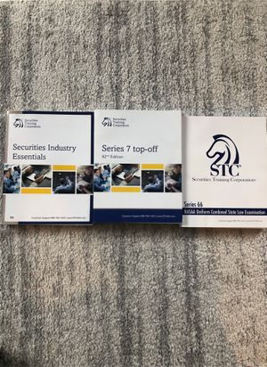 Series 7, SIE, and Series 66 Study Manuals for Sale in Chicago, IL