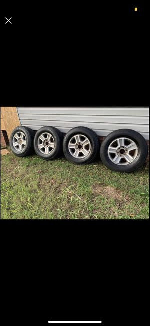 Ford F-150 rims and tires good condition 6 lug no center caps tire size LT245/75/17 $120 for Sale in Mebane, NC