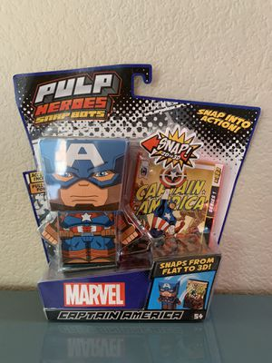 Pulp Hero Snap Bots - Captain America for Sale in Las Vegas, NV