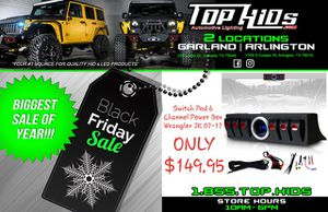 BLACK FRIDAY 6 Switch Pod and Voltmeter Kit for Jeep JK 07-17 for Sale in Garland, TX
