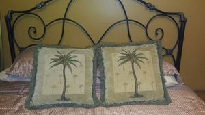 Tommy Bahama Style Throw Pillows with palm tree accents. for Sale in Hialeah, FL