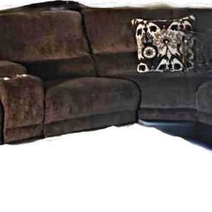 Large Brown Sectional With 3 Electric Recliners for Sale in Littleton, CO