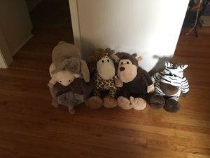 Pottery barn stacking toy and 3 large stuffed animals for Sale in Nashville, TN