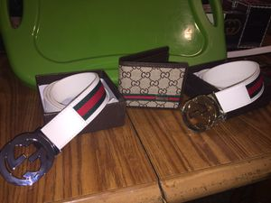 Gucci belts w/matching wallet for Sale in Cleveland, OH