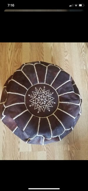 Authentic Moroccan Squsre Pouf for Sale in Alexandria, VA