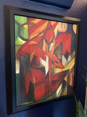 Original Painting Custom Framed Art (abstract phoenix, red) for Sale in Dallas, TX