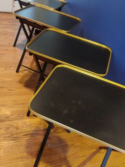 Set Of 4 Mid Century TV Trays With Stand for Sale in Bothell,  WA