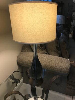 Blue glass lamps good for any room $20 for pair for Sale in Sunrise, FL
