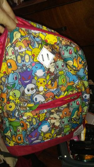 Petite pokemon bag. Brand new kid or women size. Perfect for holding collectibles or going bavk to school for Sale in Tampa, FL