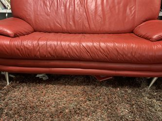 Vintage Dolnicks Contemporary Genuine Leather Sofa for Sale in St. Louis,  MO