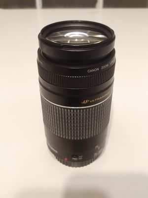 Canon 75-300 mm Telephoto Zoom Lens EF Ultrasonic DSLR Camera Lens for Sale in Charlottesville, VA