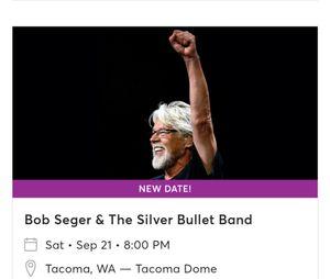 Bob Seger tickets for Sale in Bonney Lake, WA