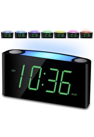 Alarm Clock, Large Number Digital LED Display with Dimmer, Night Light, USB Phone Charger, Snooze, Battery Backup, 12/24H, Easy to Set for Kids Senio for Sale in Phoenix, AZ