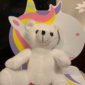 "White Teddy Bear Curtis Custom Plush Toy 8"" for Sale in El Cajon, CA"