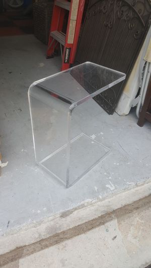 Mid century Lucite side table for Sale in Delray Beach, FL