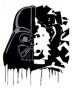 3FT Wall Street POP Art Canvas Painting Graffiti Urban Abstract Acrylic Collage Wood Frame Cotton Panel dearth Vader Star Wars Ape for Sale in North Palm Beach, FL