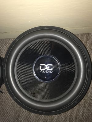 """Dc audio level 6 18"""" carbon fiber cone subwoofers practically new. $1200 obo for Sale in Detroit, MI"""