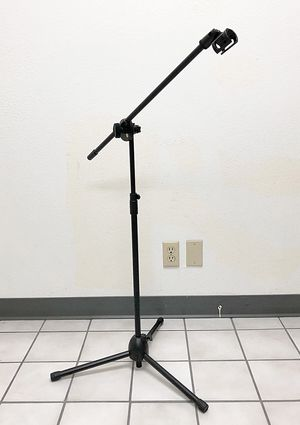 New in box $15 Microphone Boom Stand Mic Clip Holder Studio Arm Adjustable Foldable Tripod for Sale in South El Monte, CA
