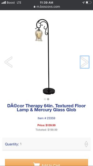 Therapy 64in texture floor lamp and mercury glass glob for Sale in Monterey Park, CA