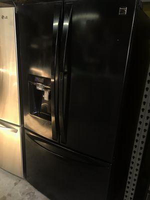 Black Kenmore refrigerator door and door French door for Sale in La Habra, CA