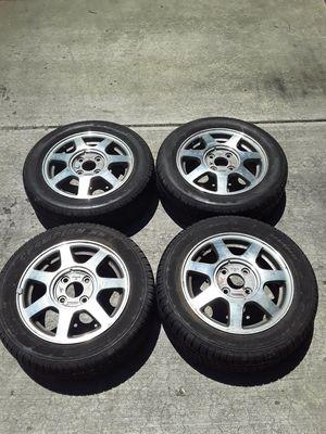 4 Lemans Champion HR 195/60R15 Tires w/ aluminum Honda rims for Sale in St. Peters, MO