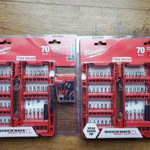 Brand new Milwaukee Impact Driver Bit Set 70 pc each set $30 check my page for Sale in Auburn, WA