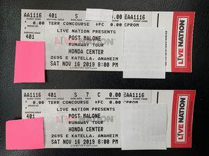 Post Malone At Honda Center Nov 16 for Sale in Alhambra, CA