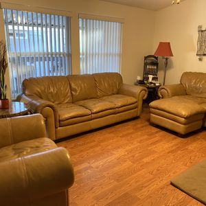 Tan leather Living Room Set for Sale in Poway, CA