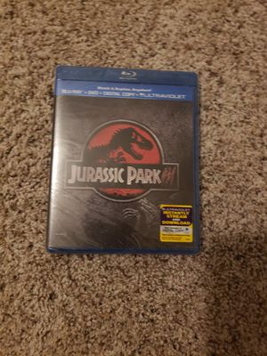 Jurassic Park 3 blue ray dvd for Sale in Concord, NC