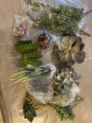 Bioexcel Fake Succulent Plants - Pack of 15 Artificial Succulent Plants for Sale in Highland, CA