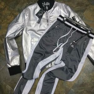 Jogger pants and leather jacket perfect combo for Sale in Tampa, FL