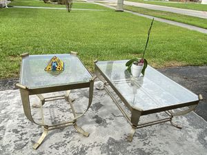 Artistica Bronze Metal Design Coffee Table Set for Sale in Miami, FL