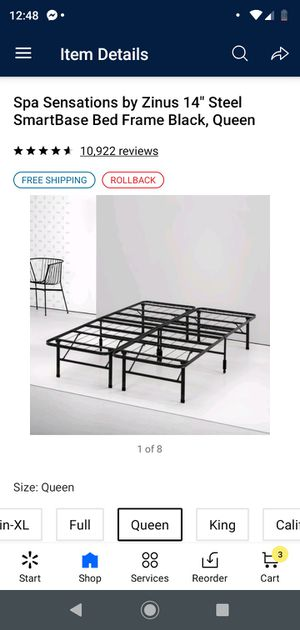 """14"""" Queen Metal Bed Frame BRAND NEW IN BOX for Sale in Trenton, NJ"""