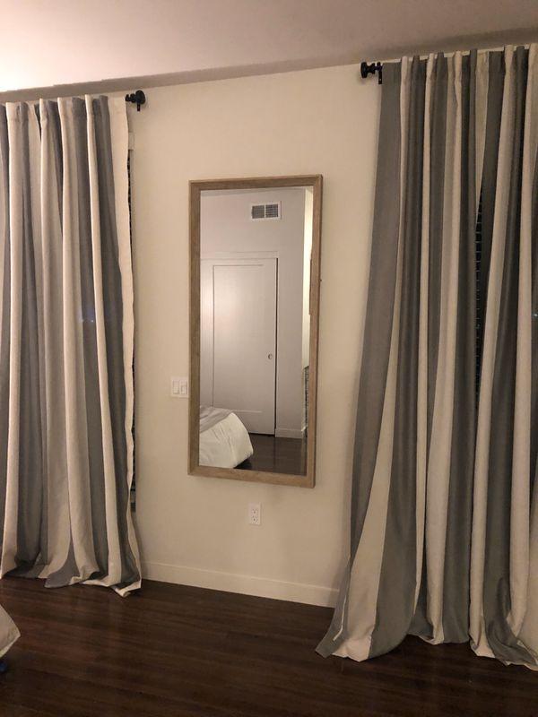 "2 tone curtains- light grey/dark grey 50"" x 108""; 8 panels available"