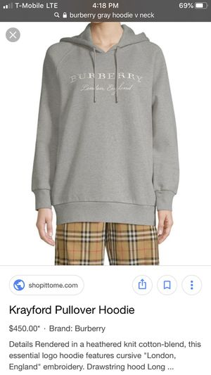 burberry gray hoodie for Sale in Everett, WA