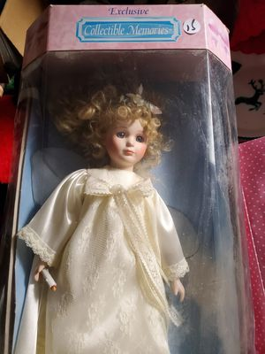 New porcelain collector angel doll for Sale in Royal Palm Beach, FL