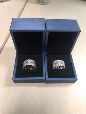 White sapphire sterling silver rings for Sale in Dallas, TX