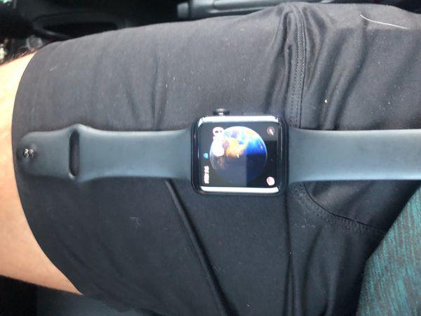 3rd series 44mm black stainless steel Apple Watch
